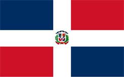 Bandera actual de la República Dominicana