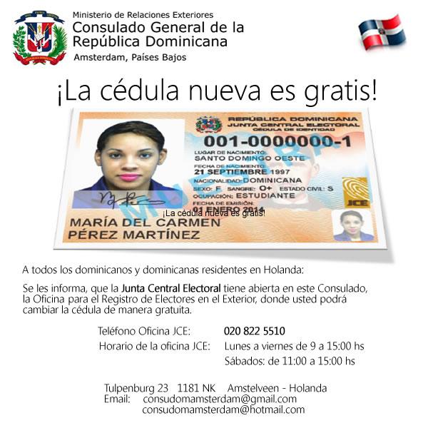 JCE Cedula nueva es gratis