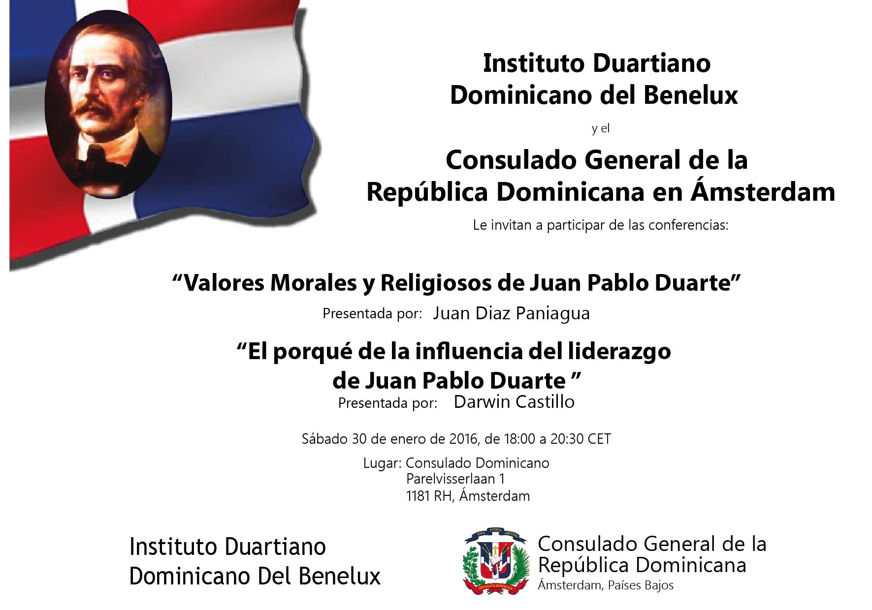 Cartel charla sobre Duarte