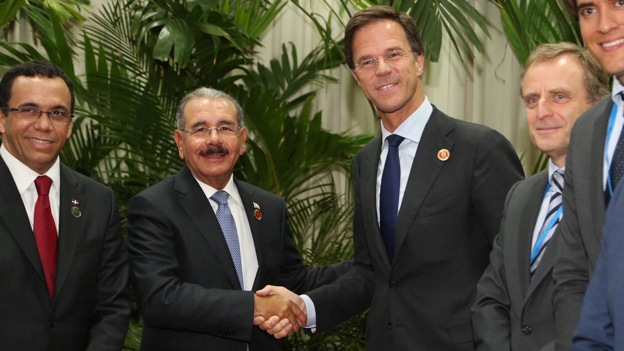 Danilo Medina y Primer Ministro de Paises Bajos