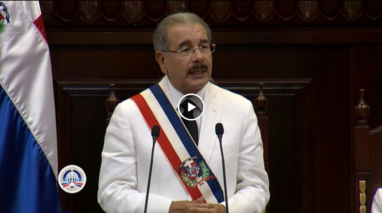 Discurso de toma de posesión de Danilo Medina
